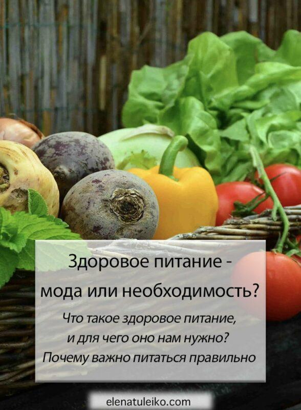 Здоровое питание - мода или необходимость?