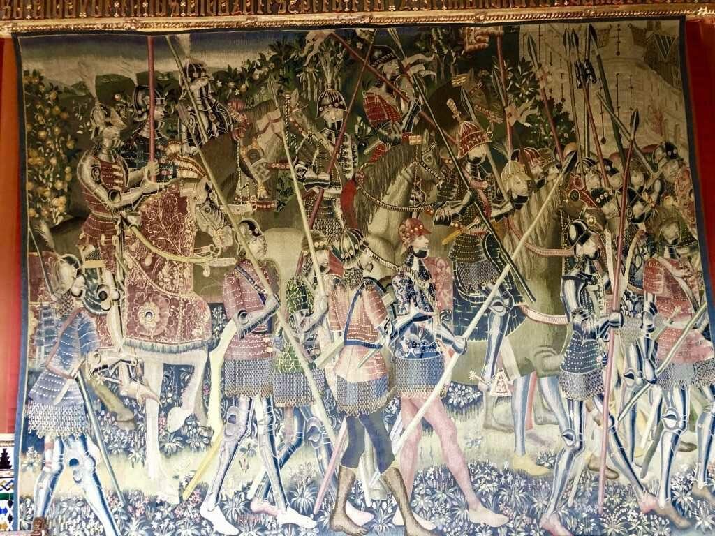 Гобелены, которыми увешаны стены залов Альказара в Сеговии | Блог Радость в каждом дне