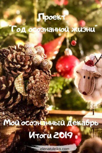 Мой осознанный декабрь. Итоги 2019 | Блог Радость в каждом дне